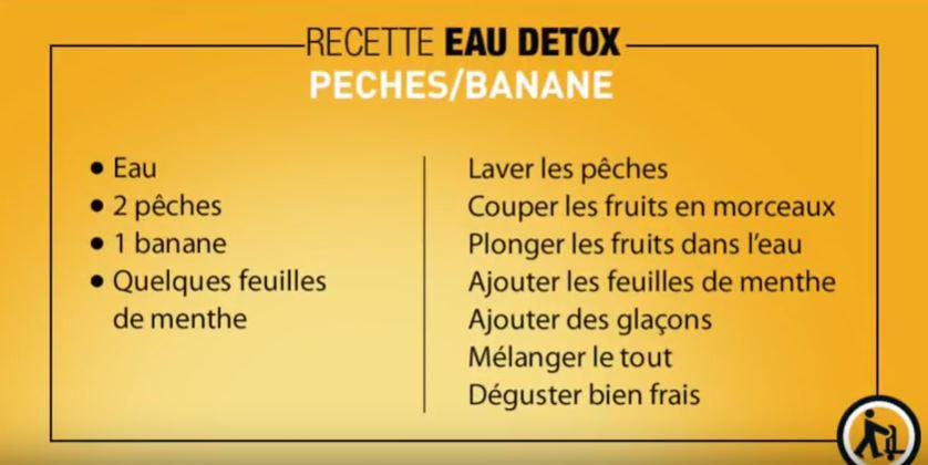 eau detox Pêche/banane