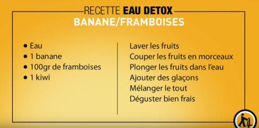 eau detox Banane/framboise