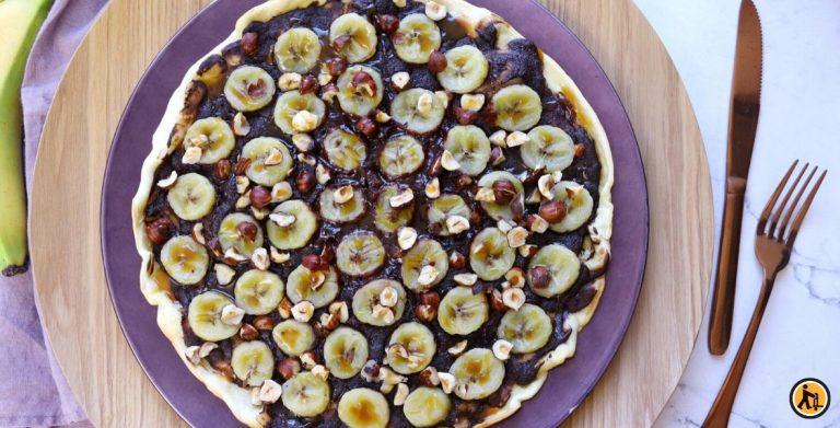 Recette de pizza au chocolat & bananes, par Il était une fois la pâtisserie