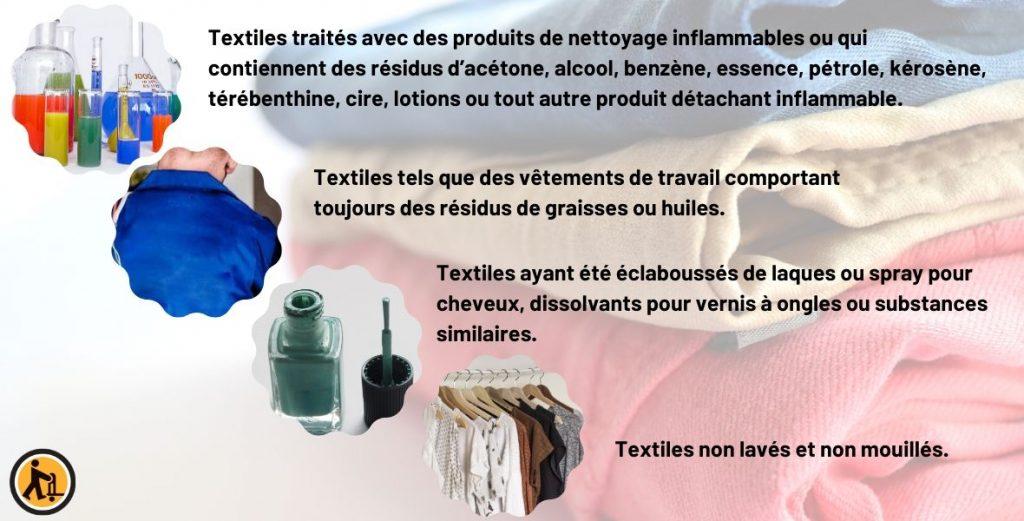 Les textiles ne peuvent pas être déposés dans l'appareil